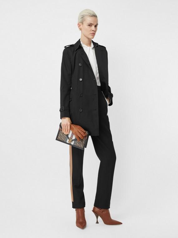 The Kensington – Mid-length Trench Coat in Black