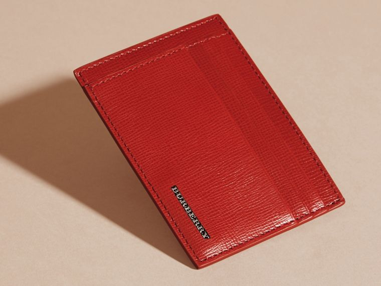 Dark military red London Leather Card Case - cell image 4