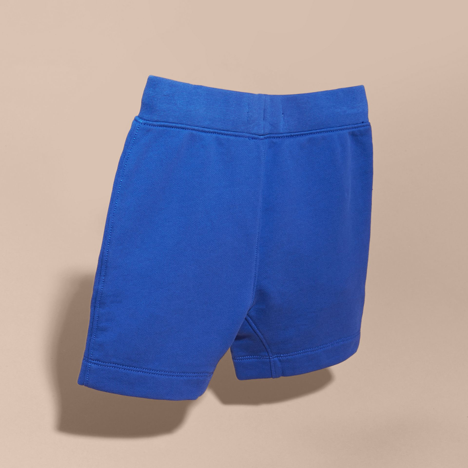 Cotton Jersey Drawcord Shorts in Brilliant Blue - Boy | Burberry - gallery image 4