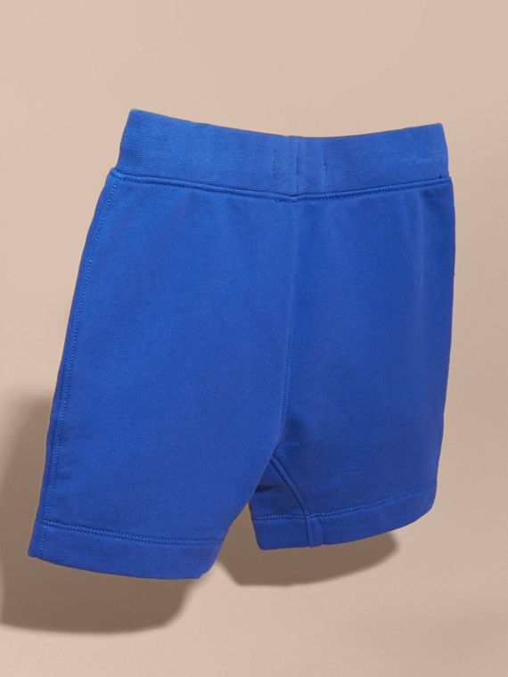 Cotton Jersey Drawcord Shorts in Brilliant Blue - Boy | Burberry - cell image 3