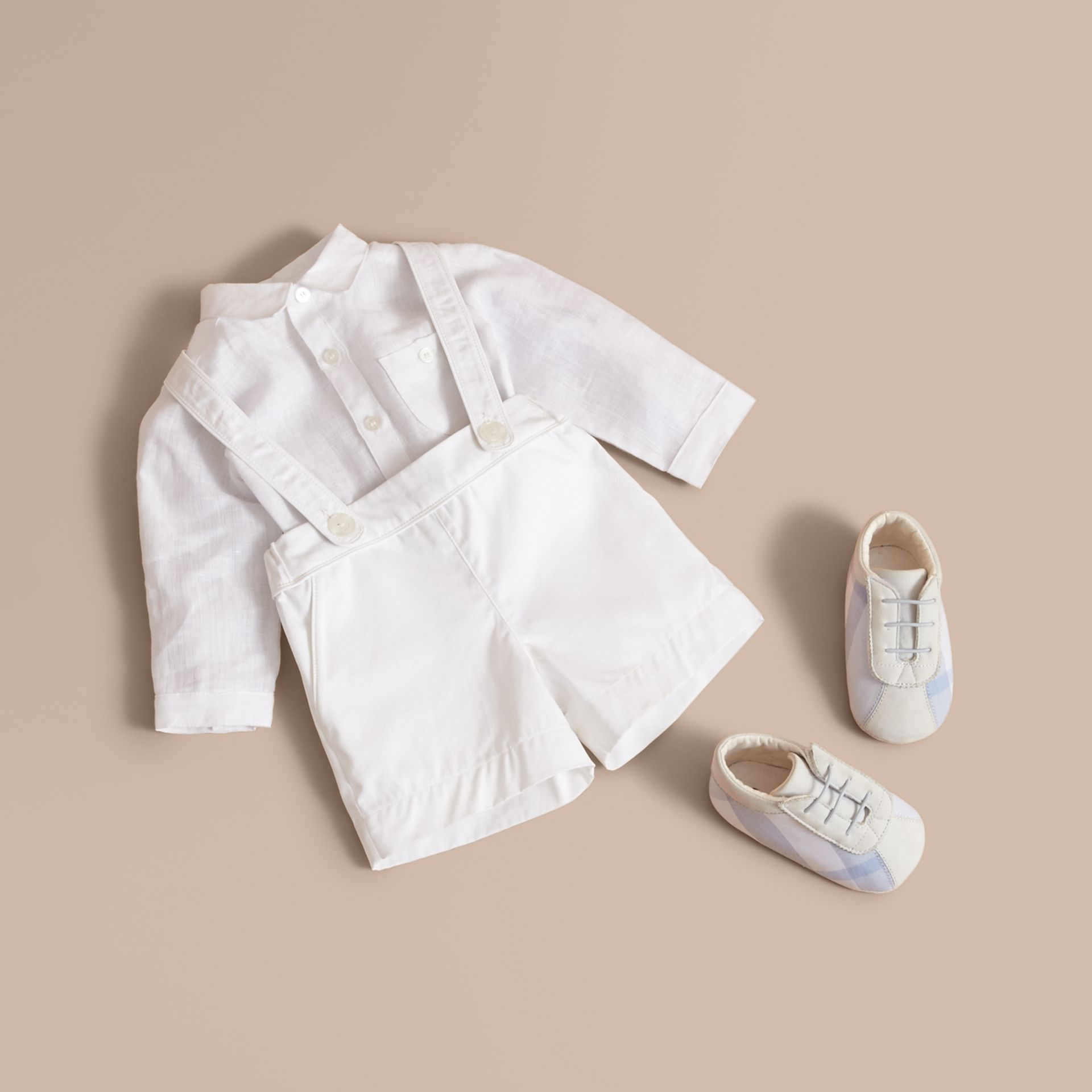 Shirt and Shorts Two-piece Baby Gift Set - Children | Burberry - gallery image 1