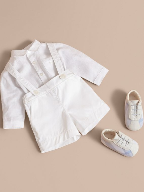 Shirt and Shorts Two-piece Baby Gift Set in White