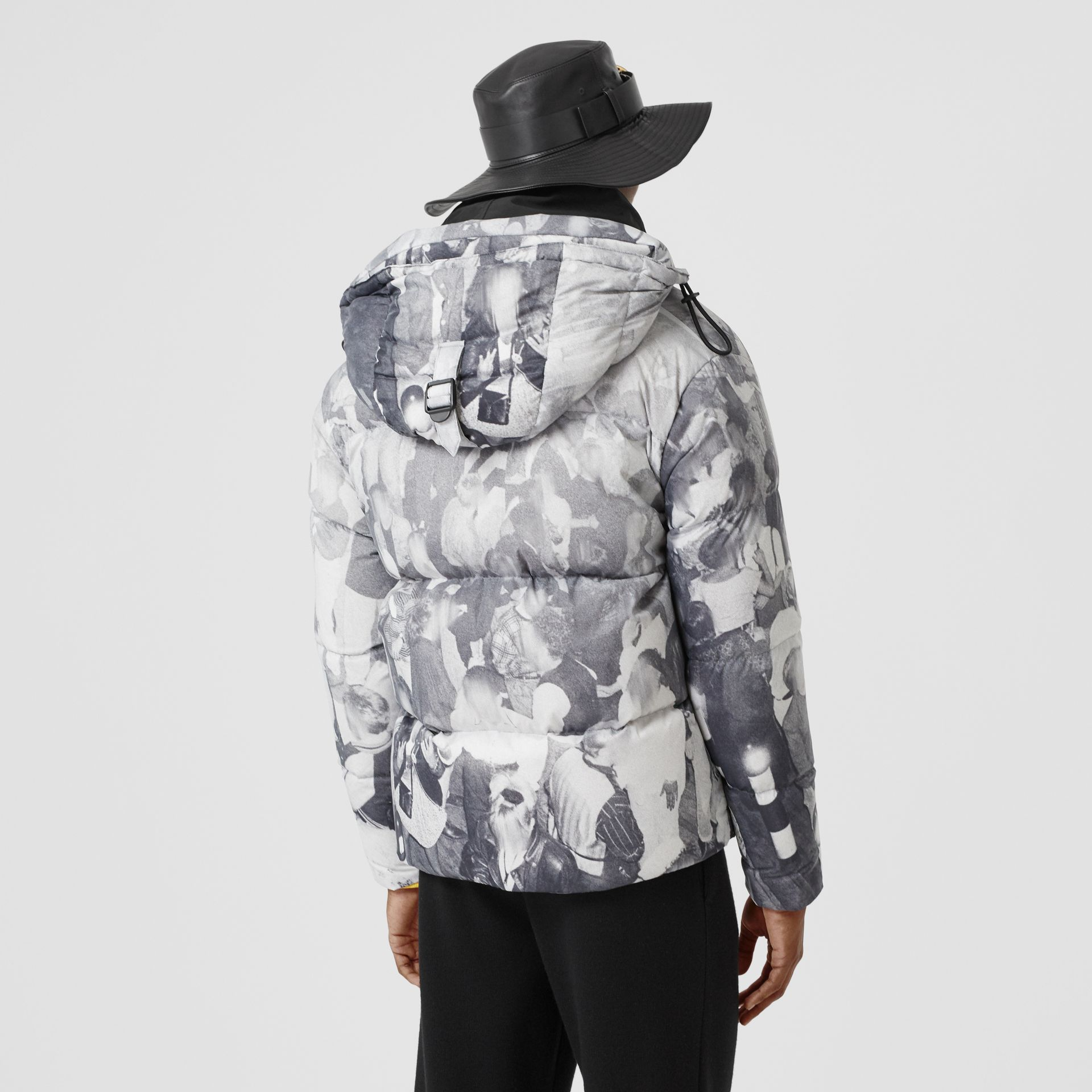 Rave Print Puffer Jacket in Monochrome - Men | Burberry - gallery image 2
