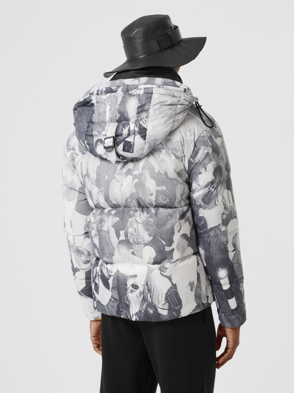 Rave Print Puffer Jacket in Monochrome - Men | Burberry - cell image 2