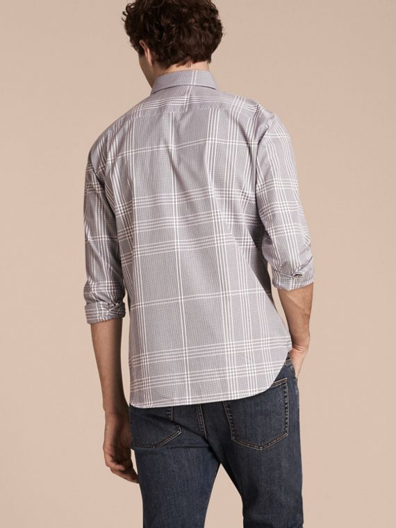 Navy intenso Camicia in cotone con motivo check Navy Intenso - cell image 2