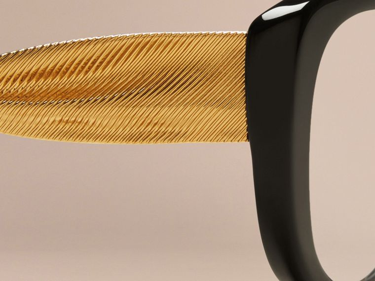 Black Gabardine Collection Oval Optical Frames Black - cell image 4