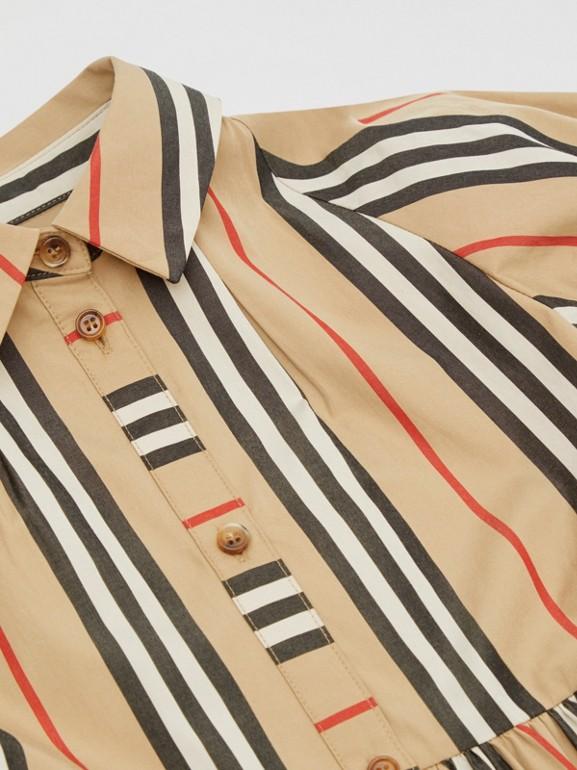 Icon Stripe Cotton Poplin Dress in Archive Beige | Burberry United Kingdom - cell image 1