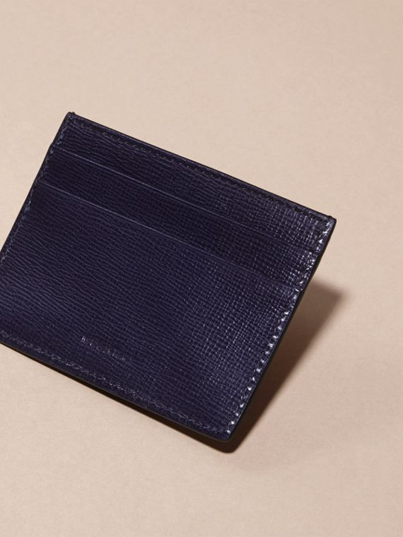 London Leather Card Case in Dark Navy - Men | Burberry - cell image 3