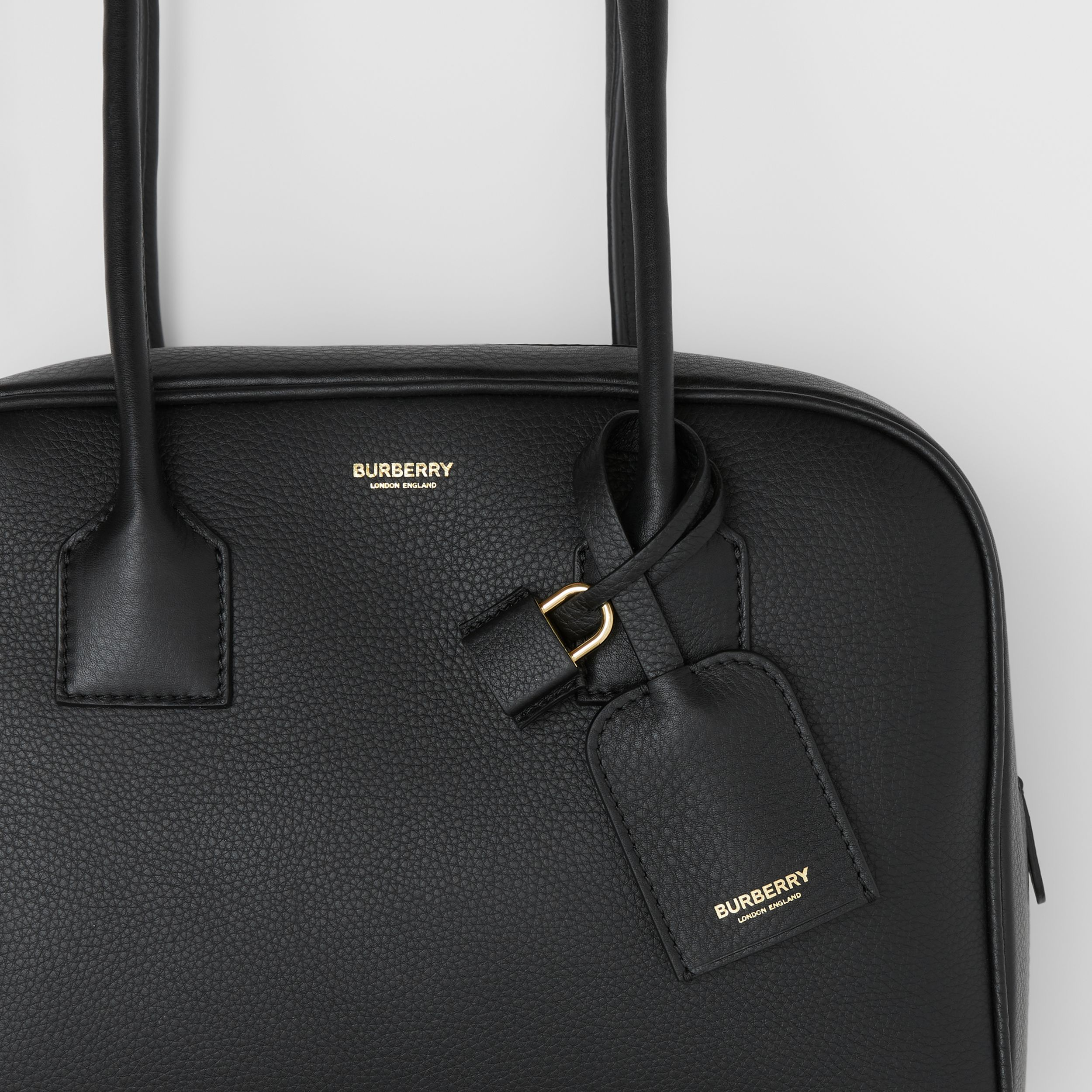 Medium Leather Half Cube Bag in Black - Women | Burberry - 2