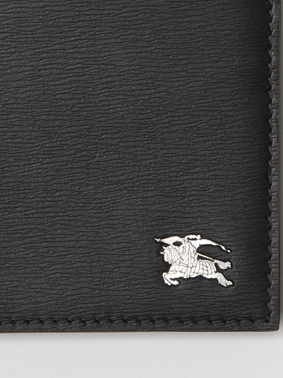 London Leather International Bifold Wallet in Black - Men | Burberry Hong Kong - cell image 1