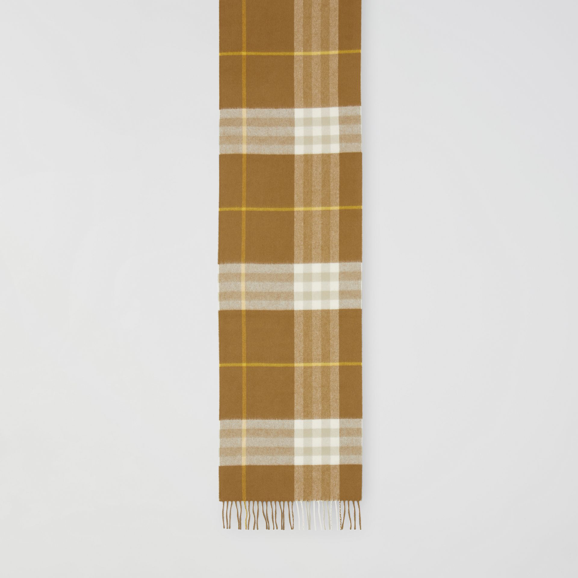 The Classic Check Cashmere Scarf in Deep Olive | Burberry - gallery image 2