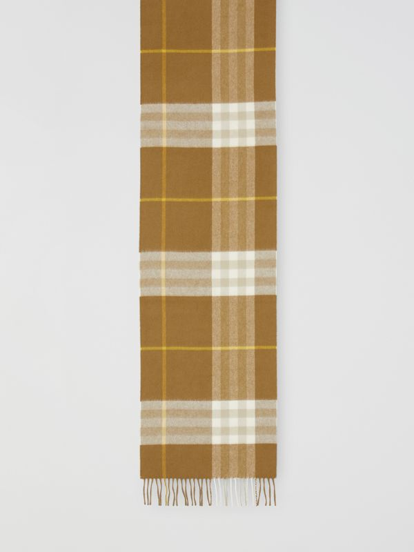 The Classic Check Cashmere Scarf in Deep Olive | Burberry - cell image 2