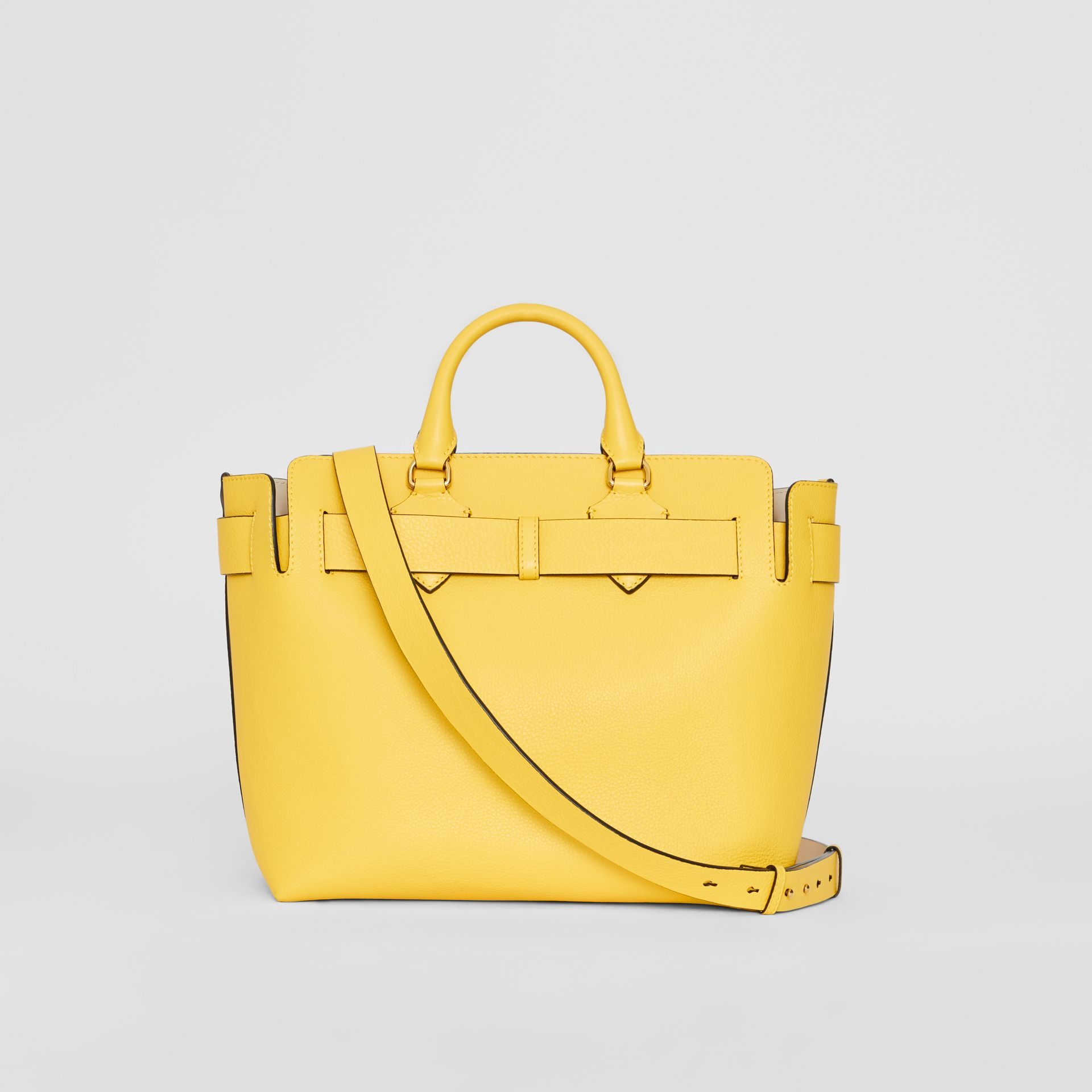 The Medium Leather Belt Bag in Bright Larch Yellow - Women | Burberry United States - gallery image 8