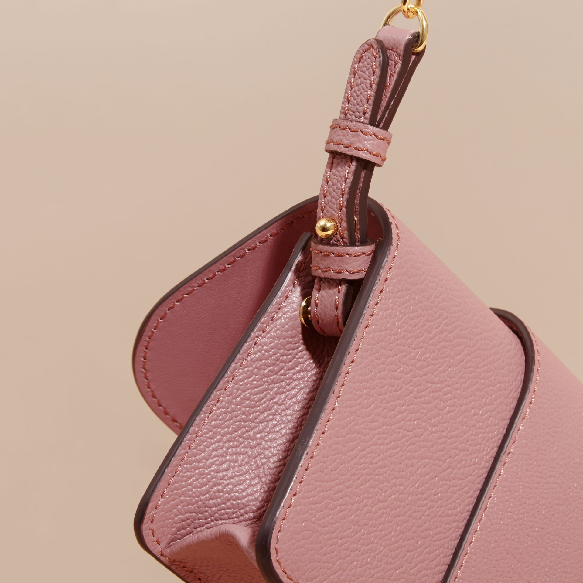 The Mini Buckle Bag in Grainy Leather Dusty Pink - gallery image 7