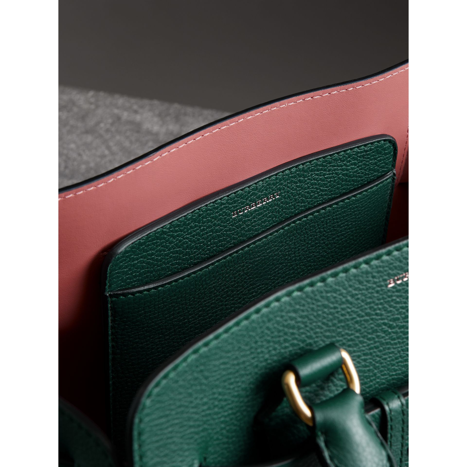 The Small Leather Belt Bag in Dark Cyan - Women | Burberry Australia - gallery image 5