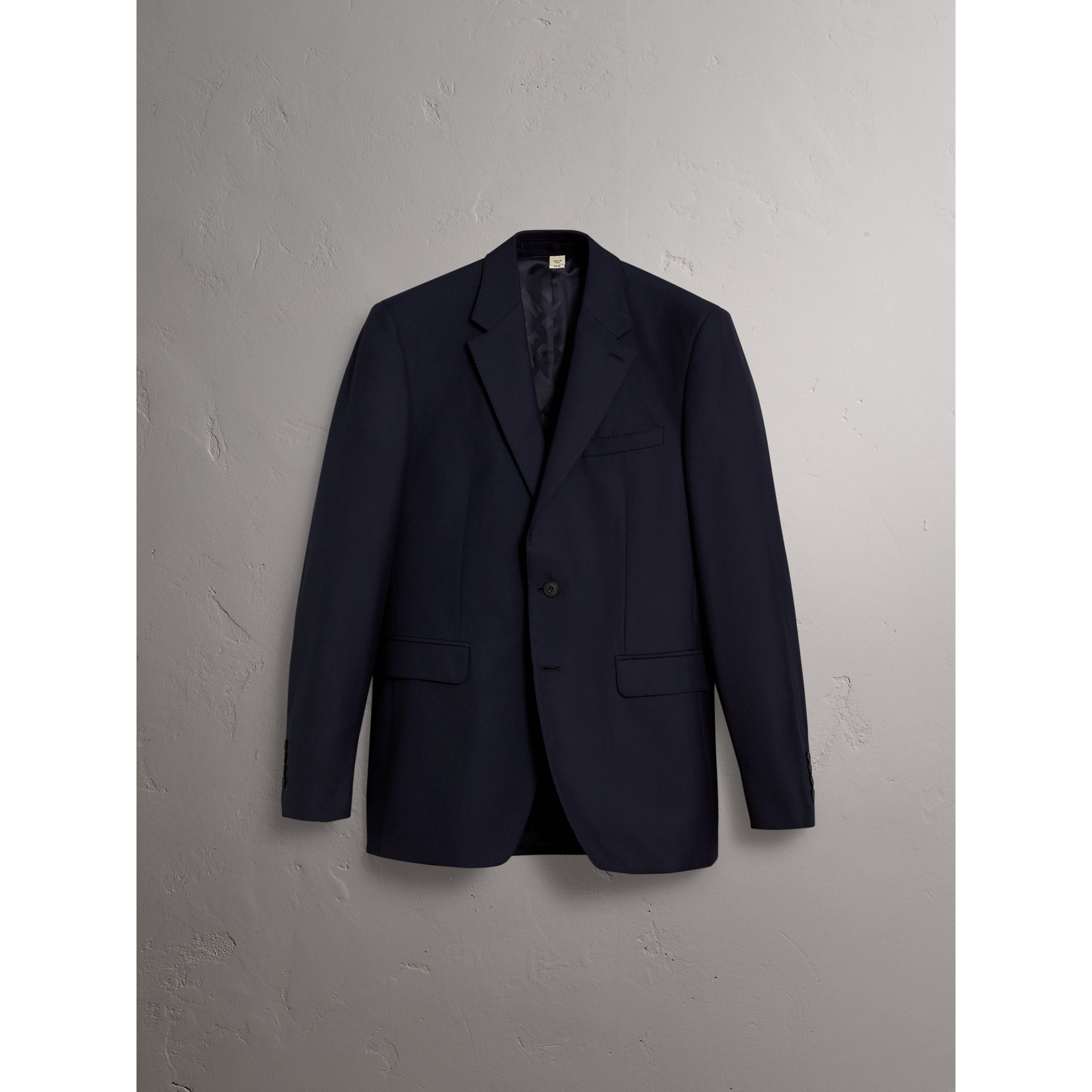 Classic Fit Wool Part-canvas Suit in Navy - Men | Burberry - gallery image 3