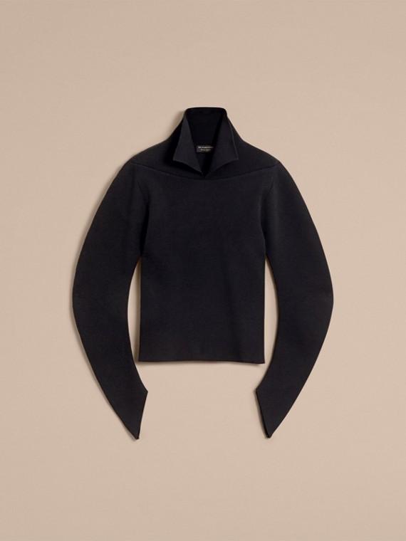 Formschöner Rippstrickpullover aus einer Wollmischung (Schwarz) - Herren | Burberry - cell image 3