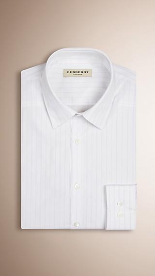 Slim Fit Striped Cotton Shirt
