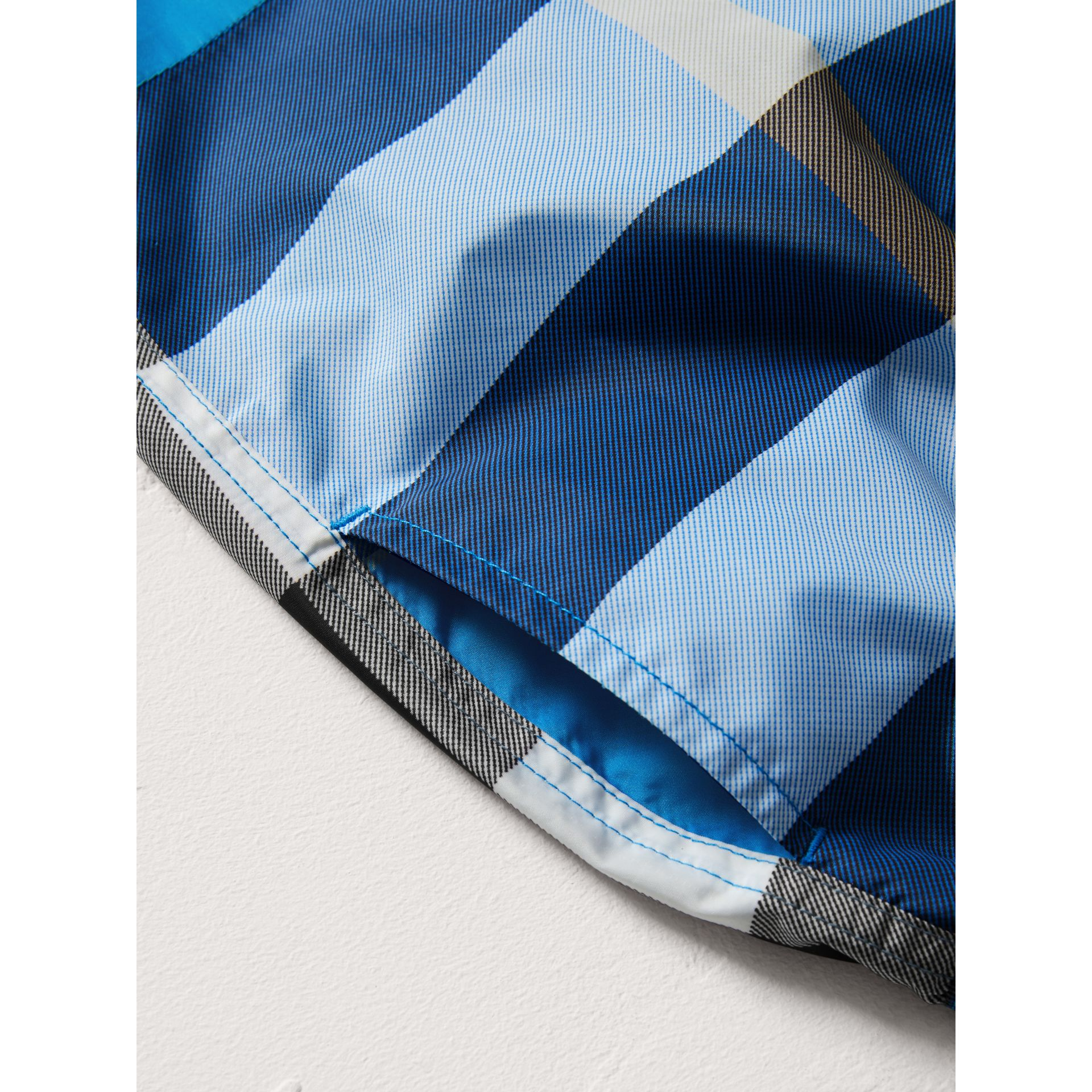 Check Swim Shorts in Cerulean Blue | Burberry - gallery image 1