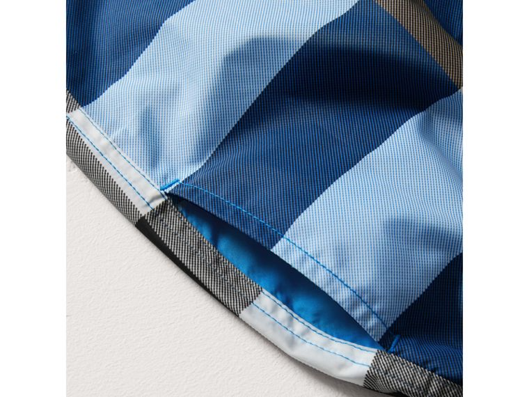 Check Swim Shorts in Cerulean Blue - Boy | Burberry - cell image 1