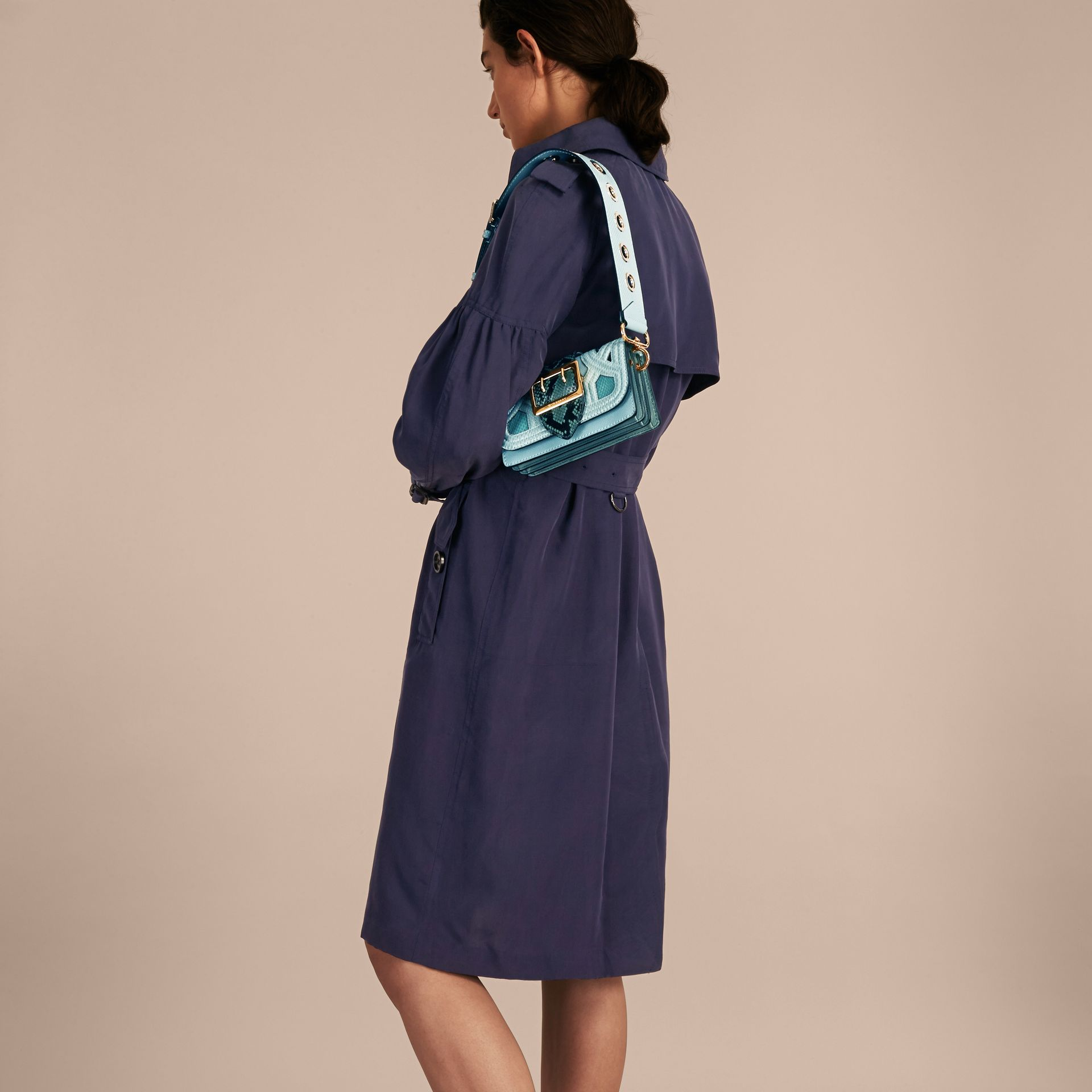 The Patchwork in Snakeskin and Suede in Blue - Women | Burberry - gallery image 5