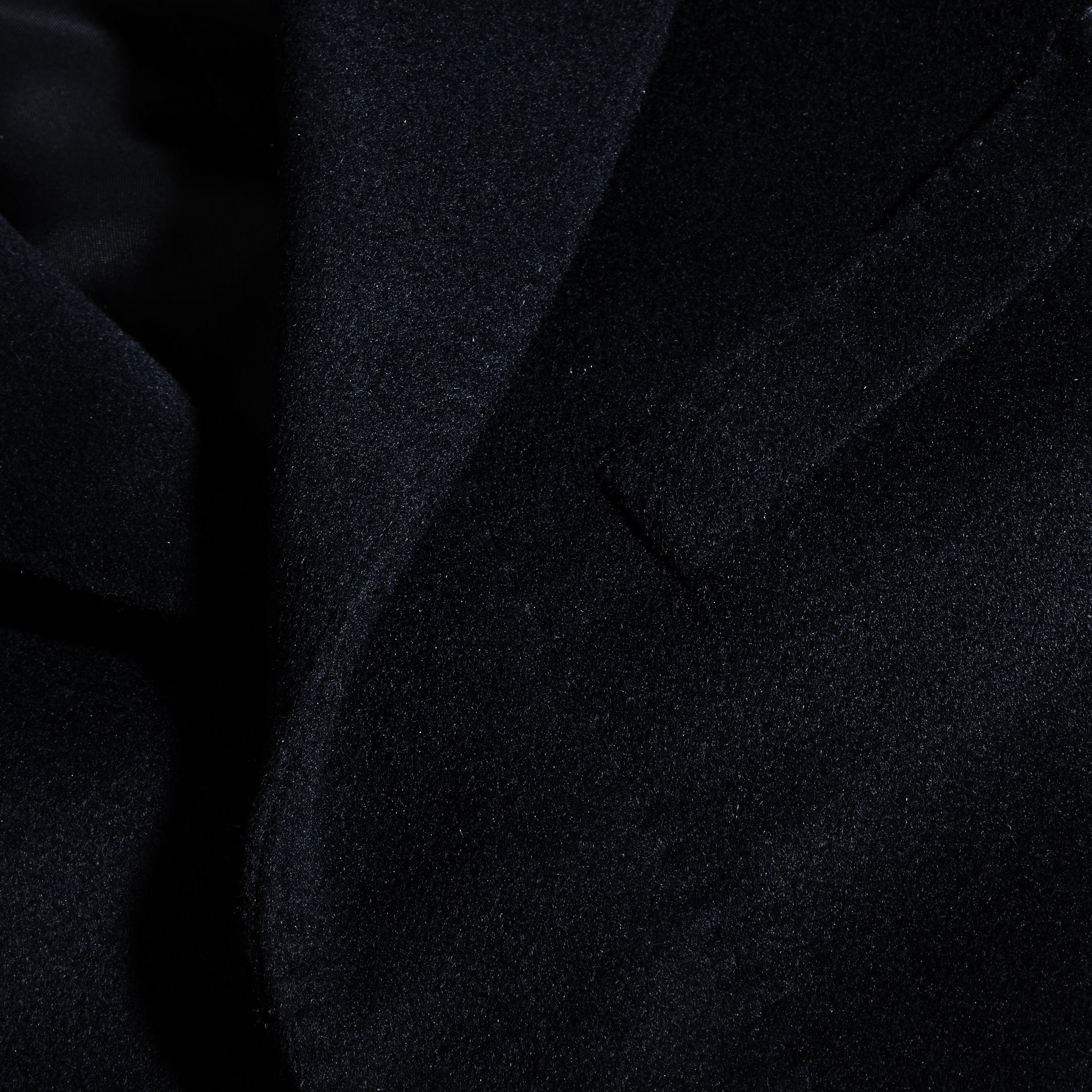 Navy Wool Cashmere Tailored Coat Navy - gallery image 2