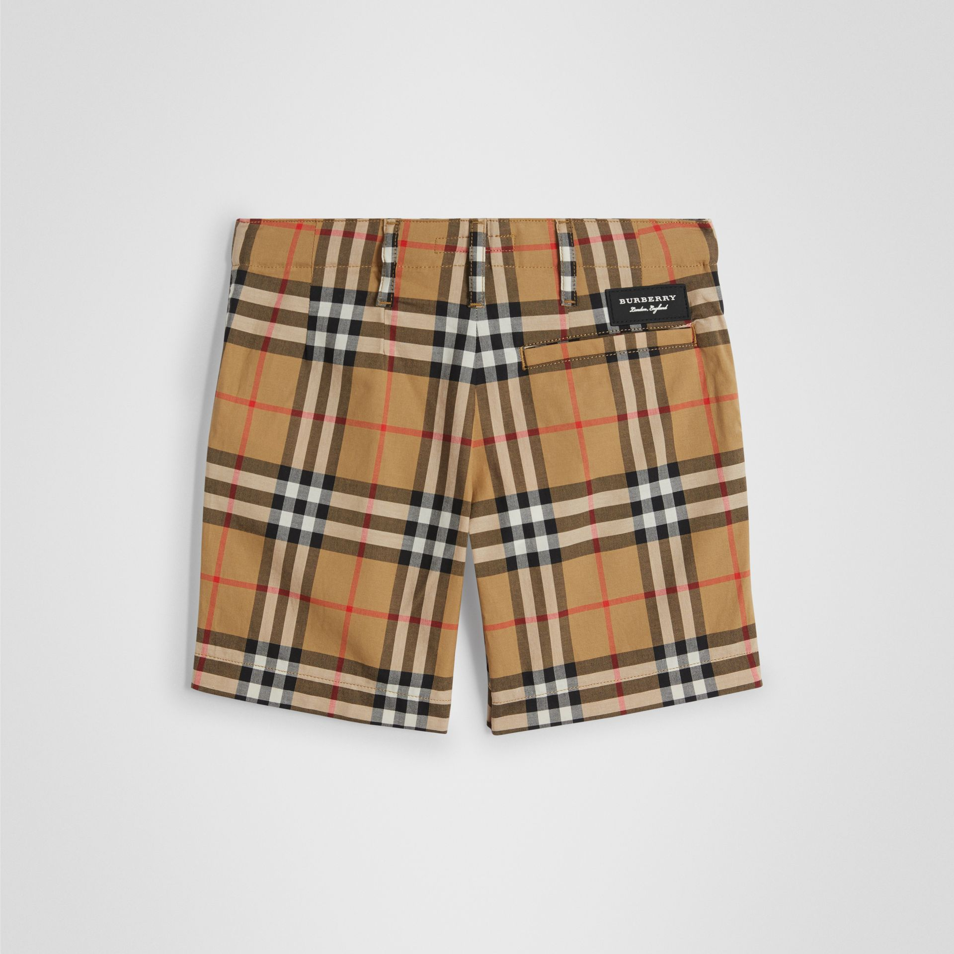 Vintage Check Cotton Tailored Shorts in Antique Yellow | Burberry - gallery image 2