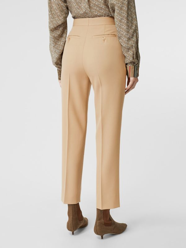 Wool Tailored Trousers in Honey - Women | Burberry United Kingdom - cell image 2