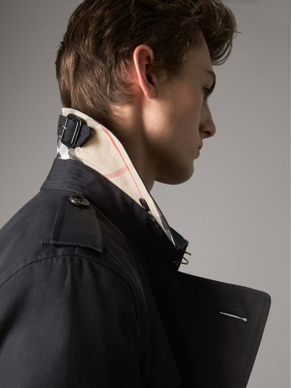 The Kensington – Long Trench Coat in Navy - Men | Burberry - cell image 1