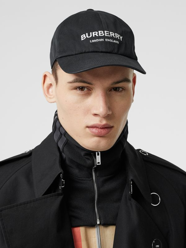 Embroidered Logo Baseball Cap in Black | Burberry - cell image 3