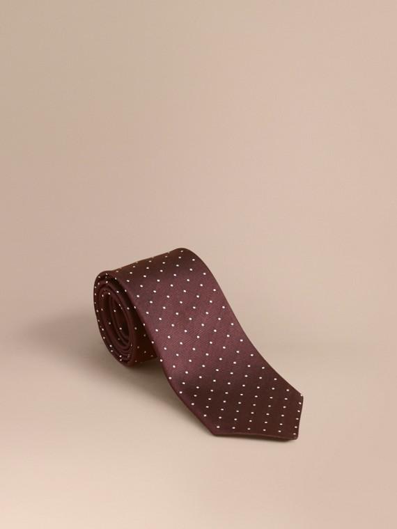 現代剪裁小圓點絲質斜紋領帶