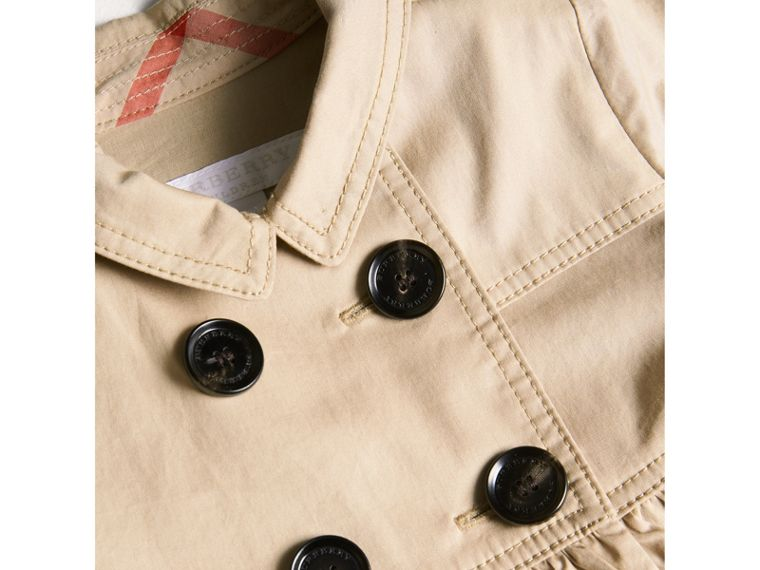 Stretch Cotton Trench Dress in Honey - Children | Burberry - cell image 1