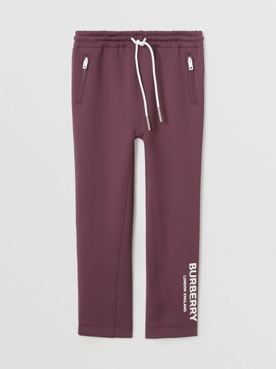 Logo Print Lightweight Trackpants in Claret