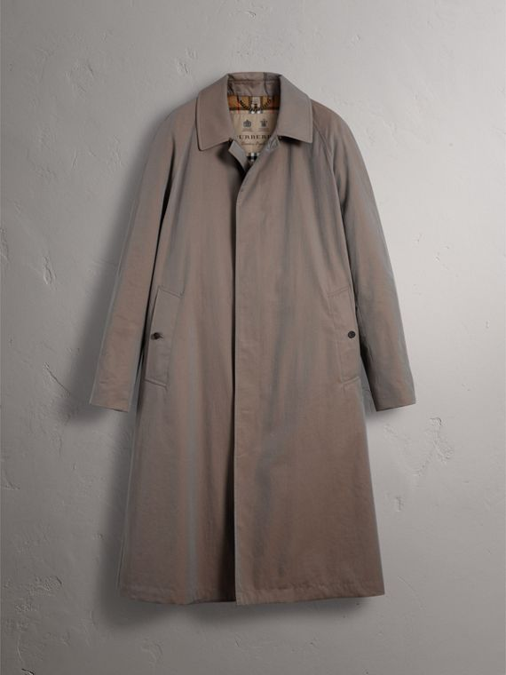 The Brighton – Longline Car Coat in Lilac Grey - Men | Burberry - cell image 3