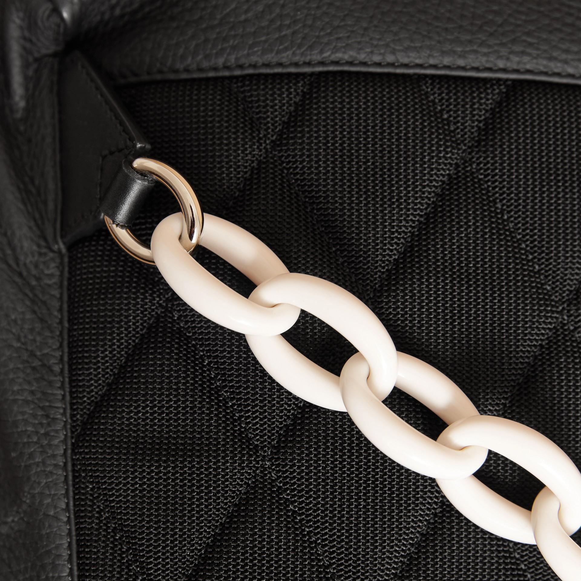 The Medium Rucksack in Deerskin with Resin Chain Black - gallery image 2