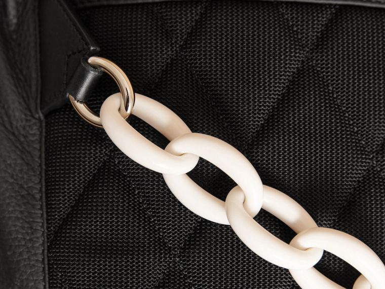 The Medium Rucksack in Deerskin with Resin Chain Black - cell image 1