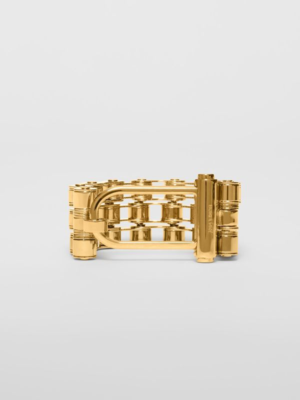 Bicycle Chain Gold-plated Bracelet in Light - Women | Burberry - cell image 3