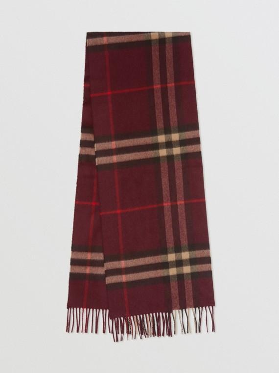 Sciarpa classica in cashmere con motivo tartan (Borgogna)