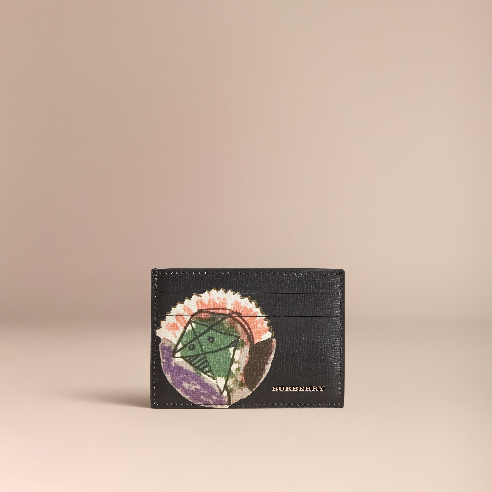Pallas Heads Print Leather Card Case - gallery image 5