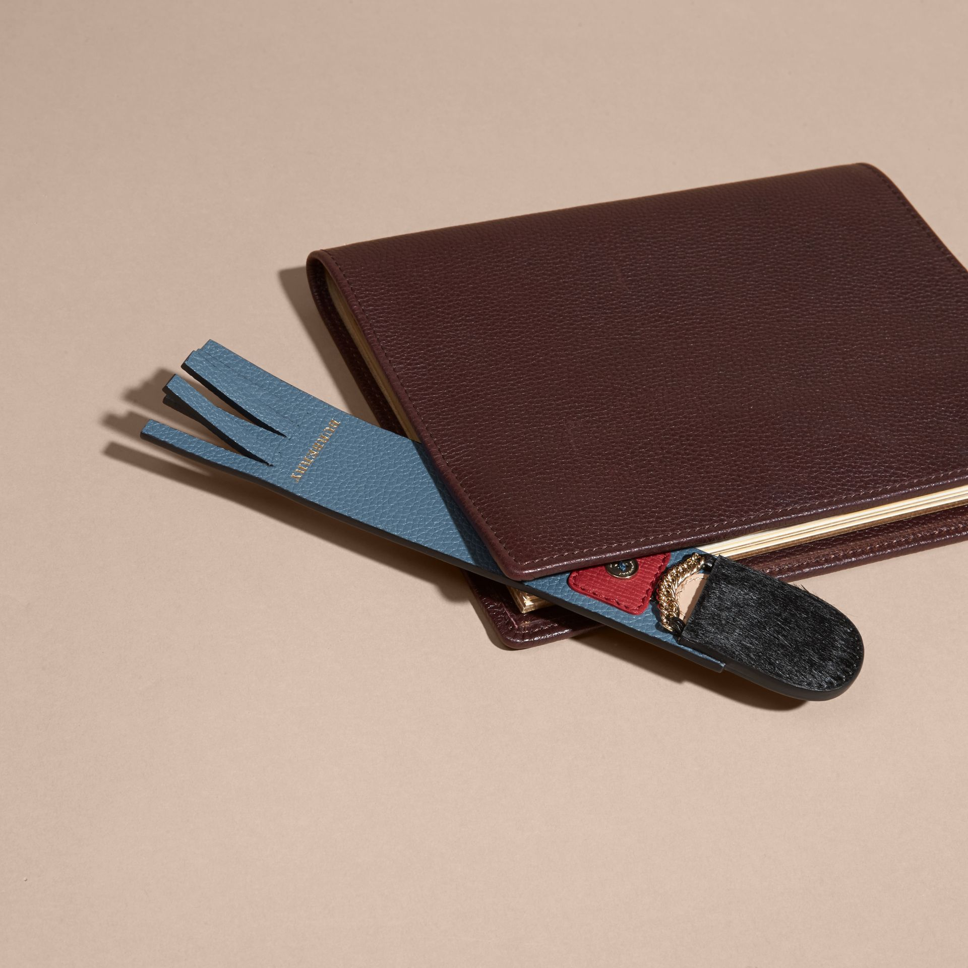 Dusty teal The Grenadier Grainy Leather Bookmark - gallery image 3