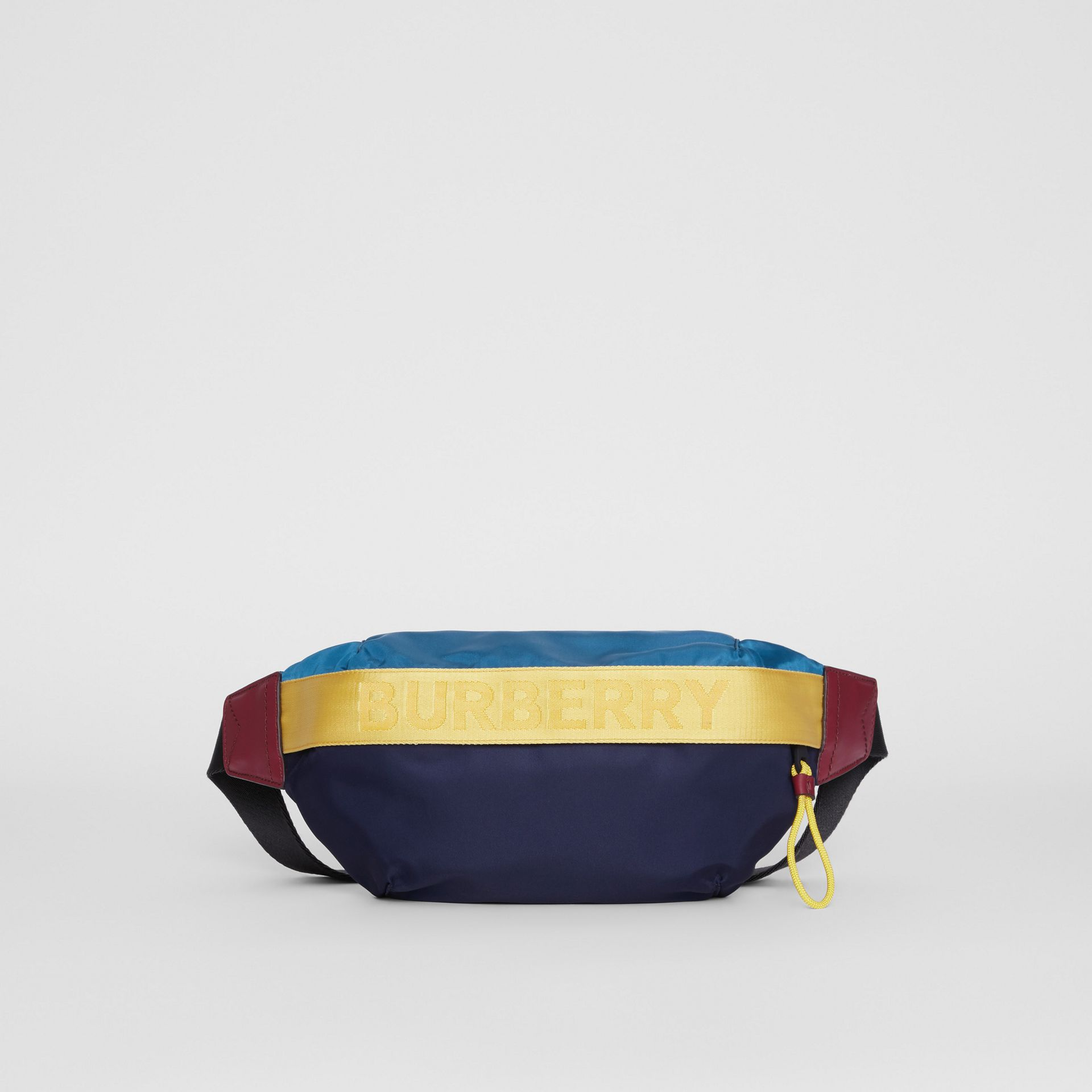 Medium Logo Detail Colour Block Bum Bag in Blue | Burberry Australia - gallery image 0