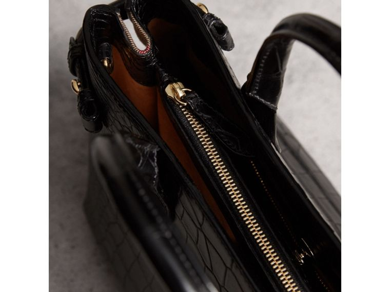 Sac The Banner medium en alligator (Noir) - Femme | Burberry - cell image 4