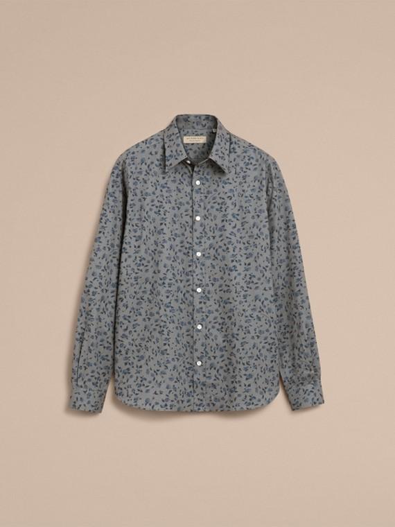 Floral Print Cotton Poplin Shirt - cell image 3