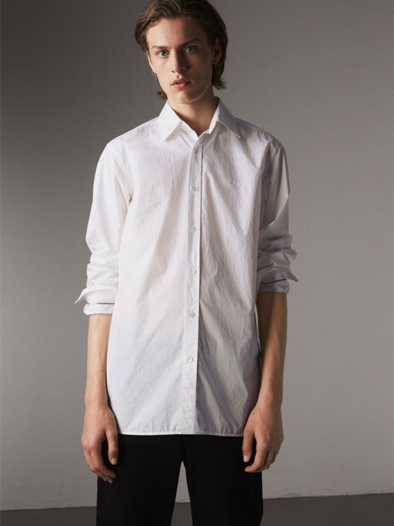 Japanese Cotton Poplin Shirt in White