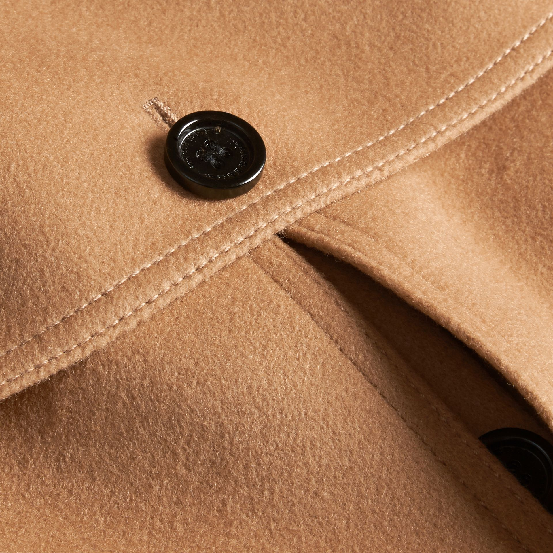 Camel Wool Cashmere Blend Trench Cape - gallery image 2