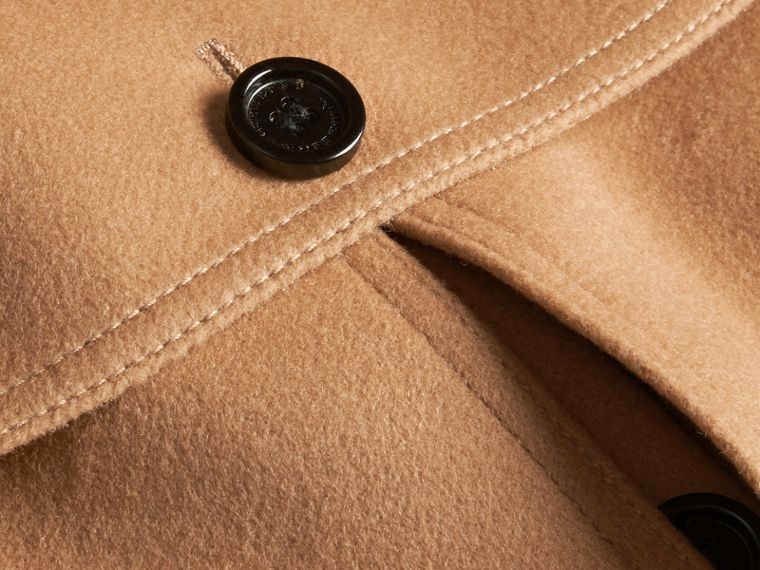 Camel Wool Cashmere Blend Trench Cape - cell image 1