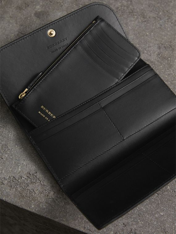 Leather Continental Wallet with Removable Coin Case in Black - Women | Burberry - cell image 2