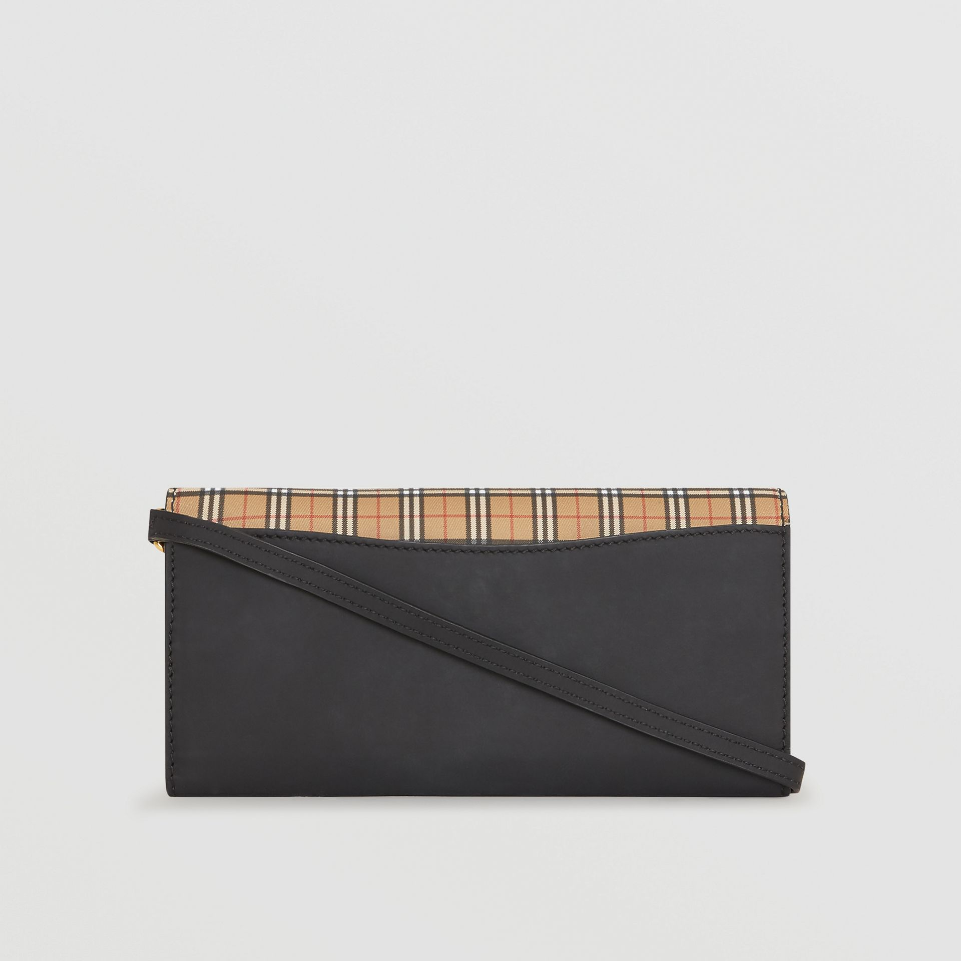 Small Scale Check Wallet with Detachable Strap in Antique Yellow - Women | Burberry - gallery image 4