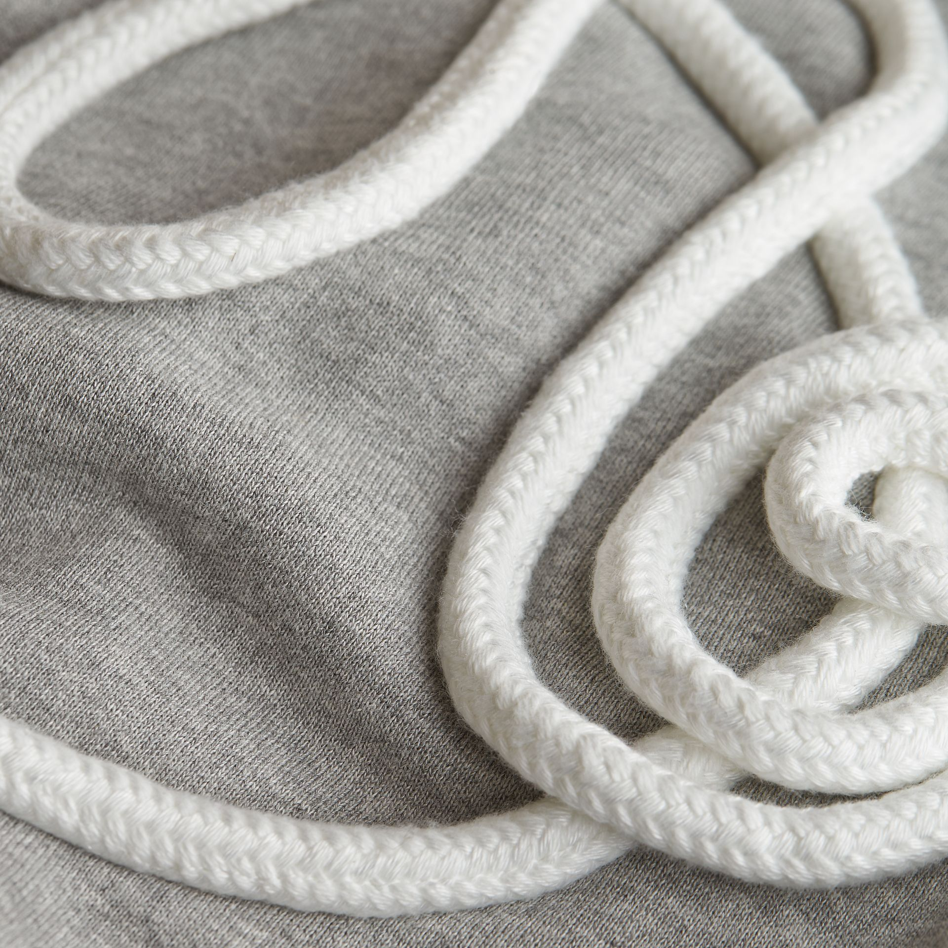 Rope Detail Brushed-back Jersey Sweatshirt in Grey Melange - Boy | Burberry Singapore - gallery image 2