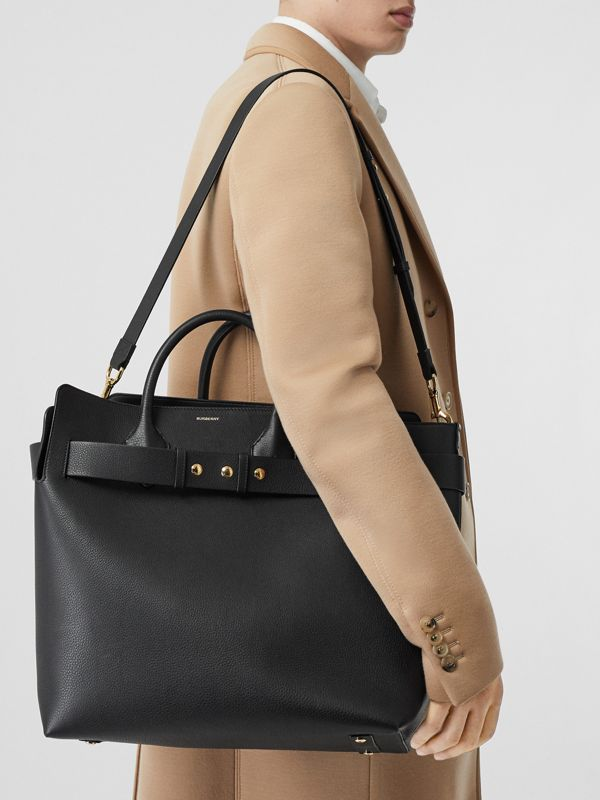 The Large Leather Triple Stud Belt Bag in Black - Women | Burberry - cell image 3